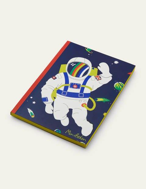 Originelles Notizbuch - Schuluniform-Navy, Astronaut