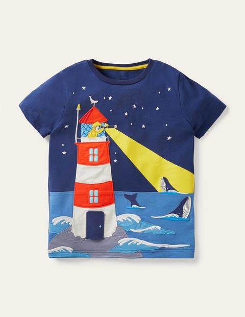 Strand-T-Shirt mit Aufklappmotiv
