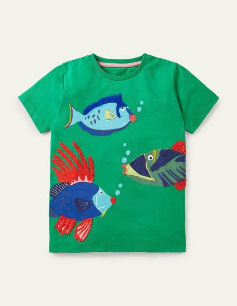 T-shirt de plage à appliqué