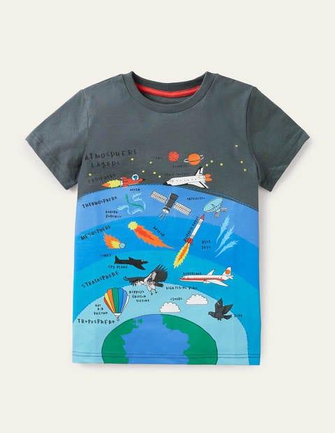 T-Shirt mit Schichtgrafik