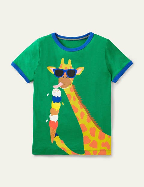 Graphic Holiday Ringer T-shirt