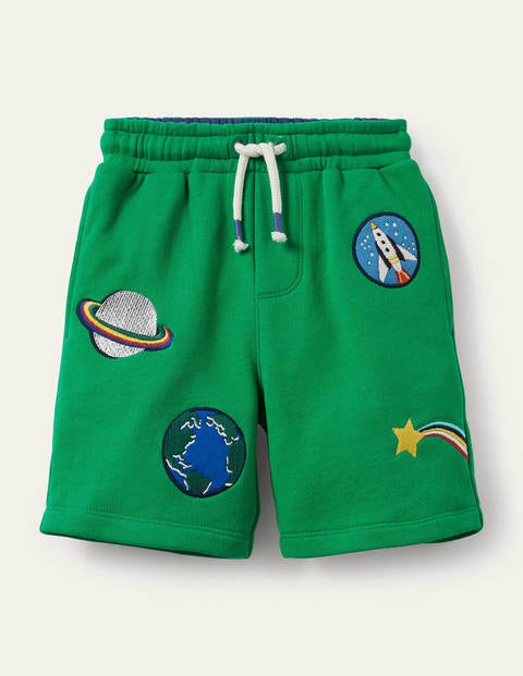 Appliqué Sweatshorts - Sapling Green Space Badges