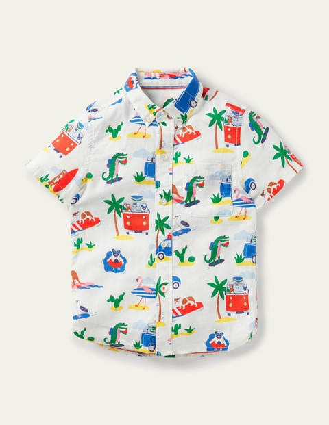 Vacation Shirt - Ivory Beach Animals