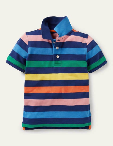 Piqué Polo Shirt - Starboard Blue Rainbow
