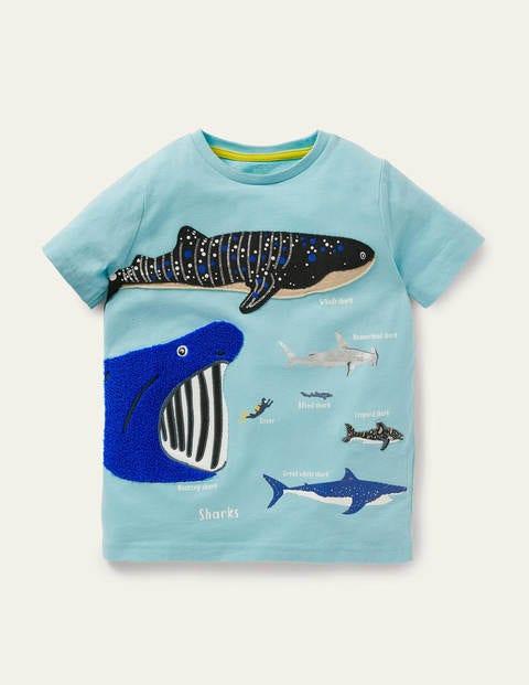 Multi-texture Marine T-shirt