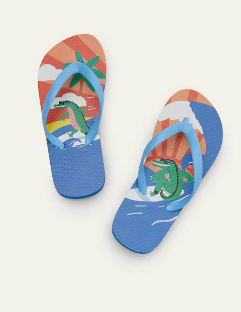 Flip Flops - Multi Crocodile
