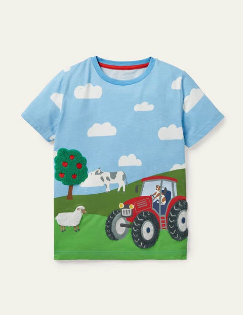 Vehicle Scene T-shirt - Surfboard Blue Farm