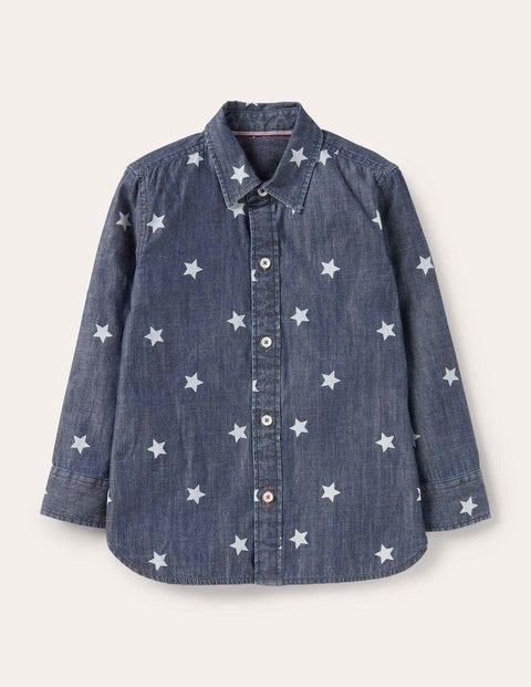 Printed Laundered Shirt - Mid Vintage Stars