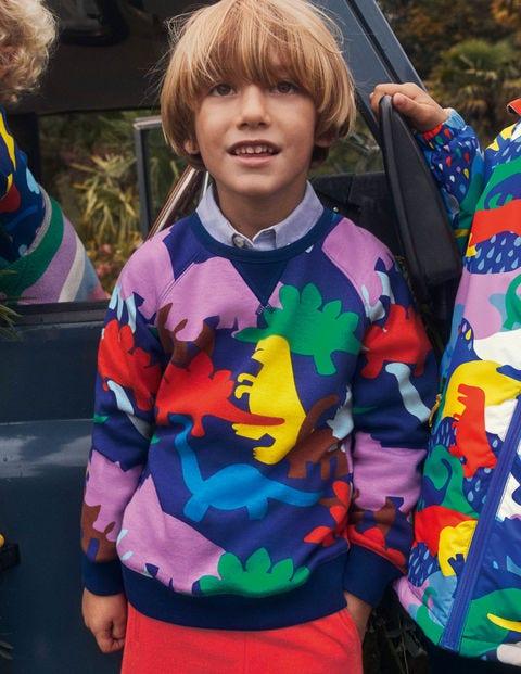 Gemütliches Sweatshirt - Segelblau, Dinosaurier
