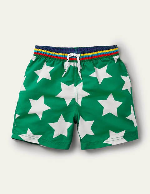 Woven Trunks - Green Pepper Stars