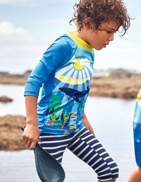 Surf Suit - Bold Blue Reef Scene