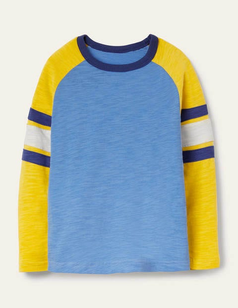 Raglan T-shirt - Elizabethan Blue/Yellow
