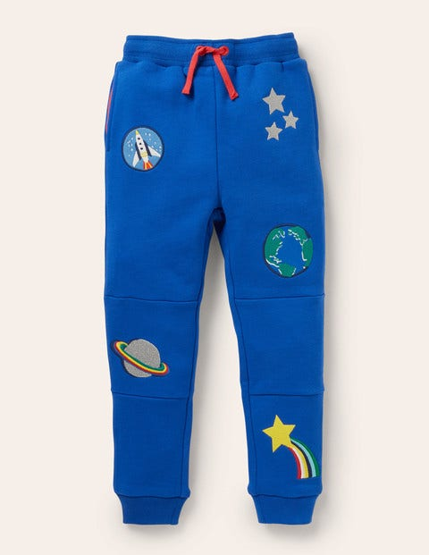 Appliqué Joggers - Brilliant Blue Space