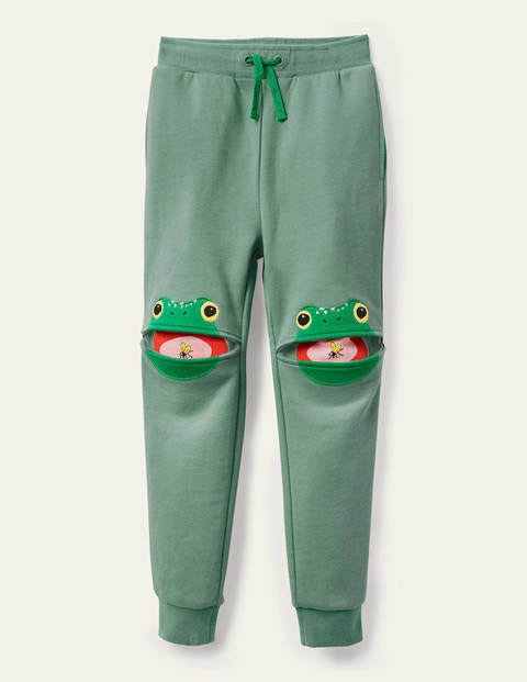 Appliqué Joggers - Rosemary Green Frog