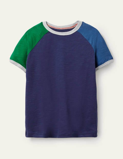 Colourblock Raglan T-shirt - College Navy