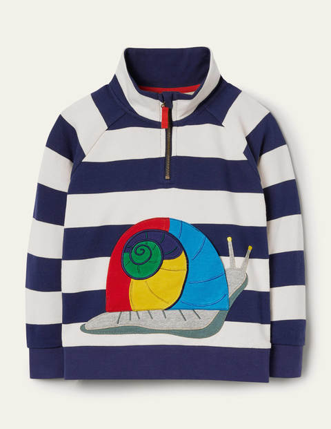 Appliqué Half-zip Sweatshirt