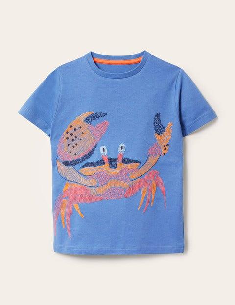 Underwater Superstitch T-shirt - Elizabethan Blue Crab