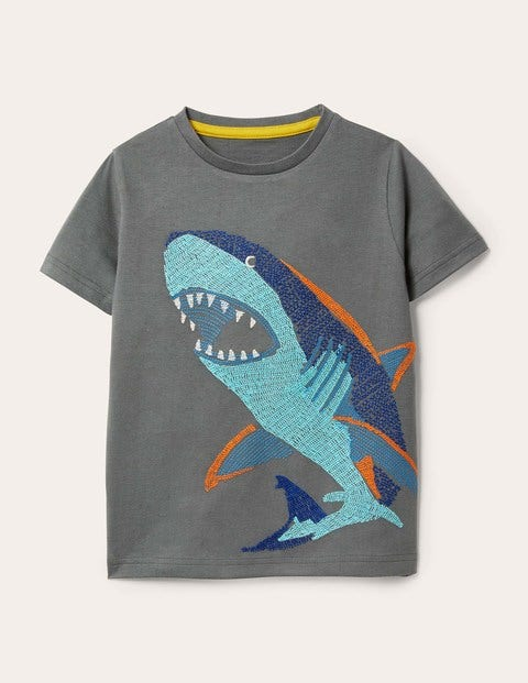Underwater Superstitch T-shirt - Smoke Grey Shark