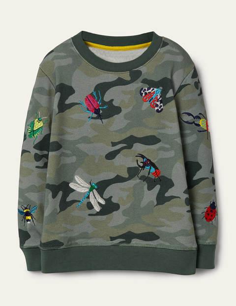 Camouflage-Sweatshirt mit Stickerei GRN Jungen Boden, GRN