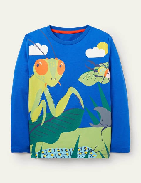 Adventure Scene T-shirt - Brilliant Blue Bugs