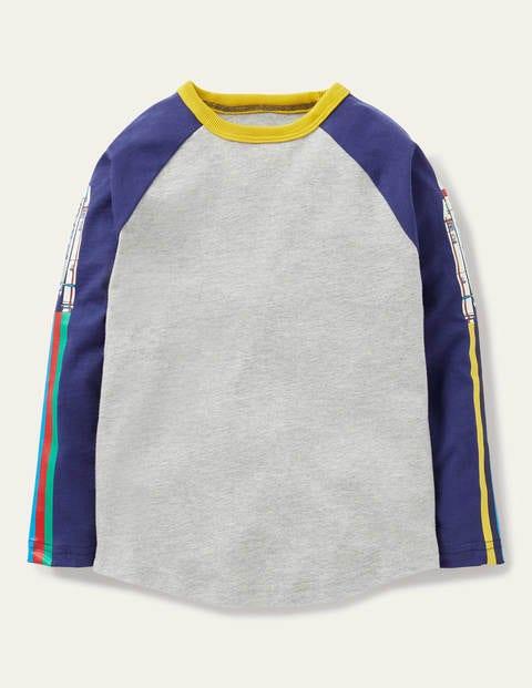 Glow-in-the-dark T-shirt - Mid Grey Rainbow Rockets
