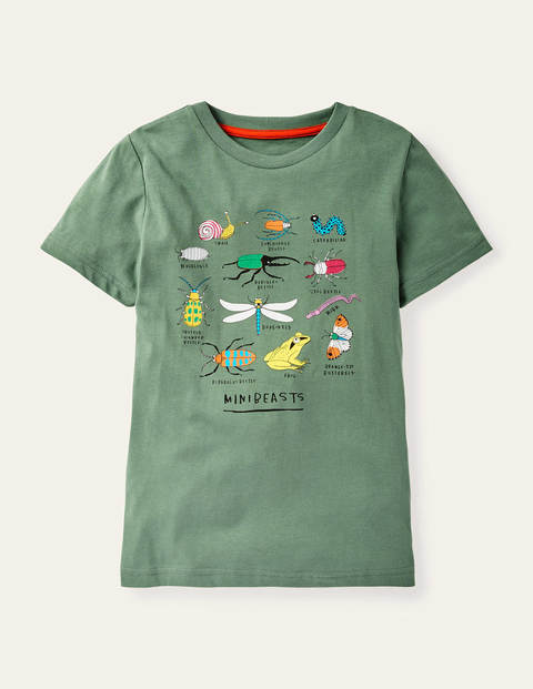Graphic Animals T-shirt - Rosemary Green Bugs