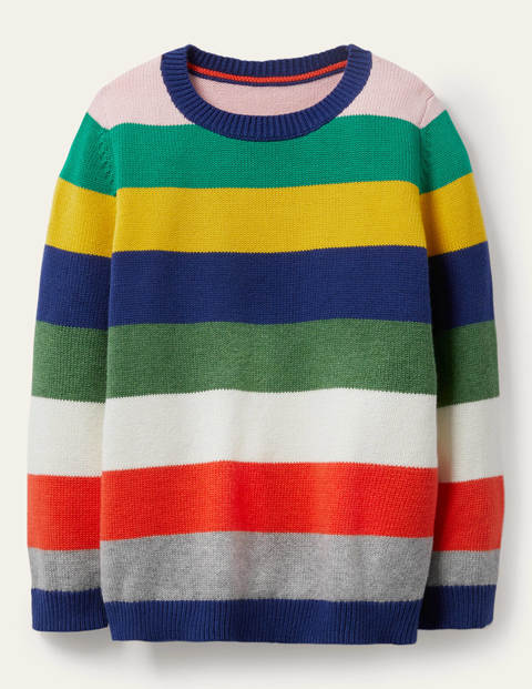 Stripe Crew Jumper - Multi Rainbow