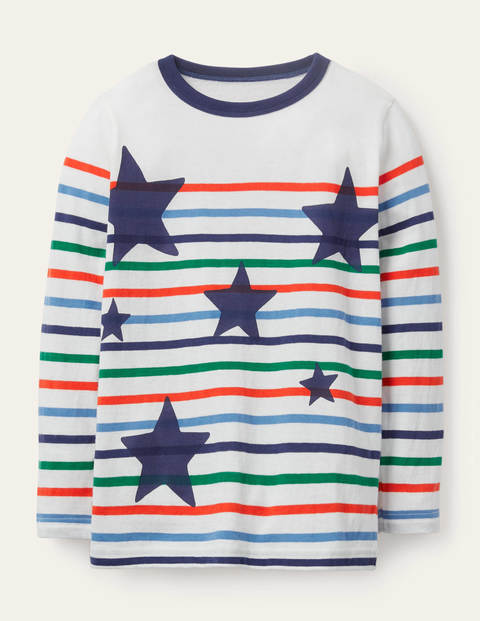 Fun Breton T-shirt - Multi Stars