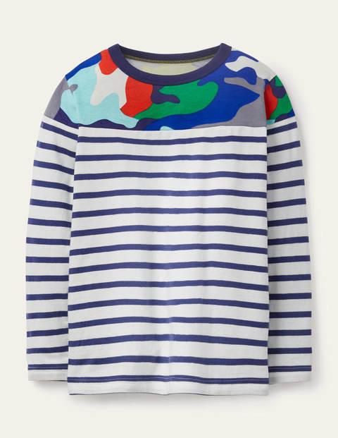 Fun Breton T-shirt - Multi Rainbow Camo