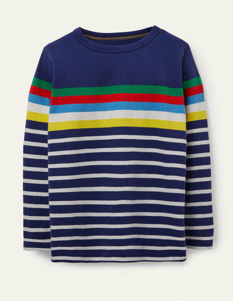 Fun Breton T-shirt - Starboard Blue Rainbow