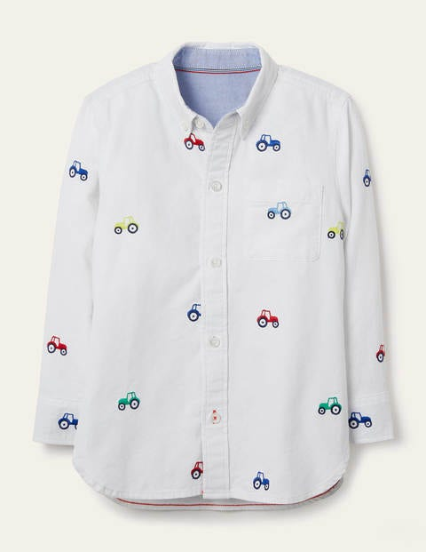 Embroidered Oxford Shirt - Ivory Diggers