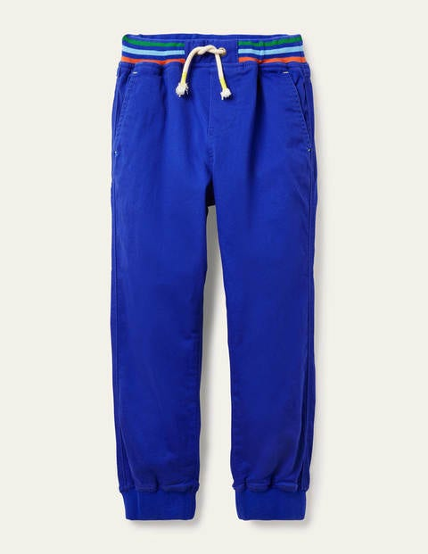 Rib Waist Pull-on Joggers - Brilliant Blue