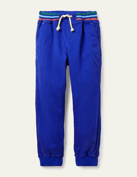 Bas de jogging à enfiler avec taille côtelée - Bleu brillant