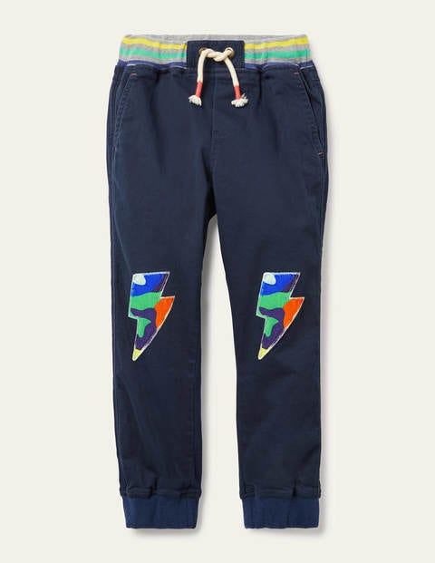 Rib Waist Pull-on Joggers - College Navy