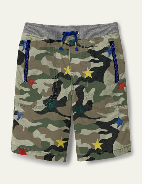 Adventure Shorts - Green Star Camouflage