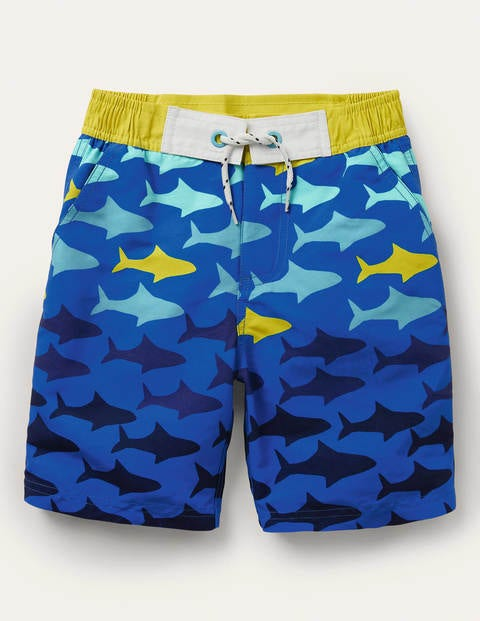 Board Shorts - Bold Blue Sharks