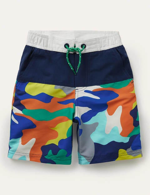 Board Shorts - Multi Rainbow Camo