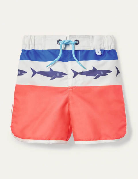 Surf Shorts - Guava Orange Sharks