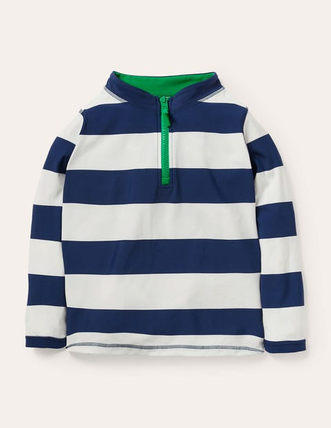 Half-zip Stripe Rash Vest