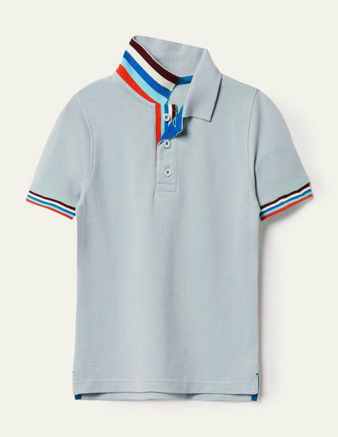 Piqué Polo Shirt - Misty Blue
