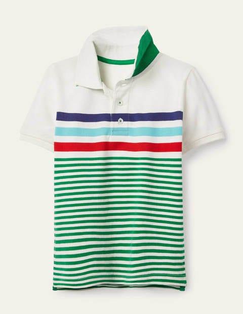 Piqué Polo Shirt - Sapling Green/Ivory