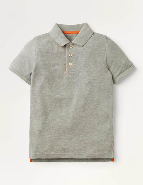 Piqué-Poloshirt - Grau Meliert