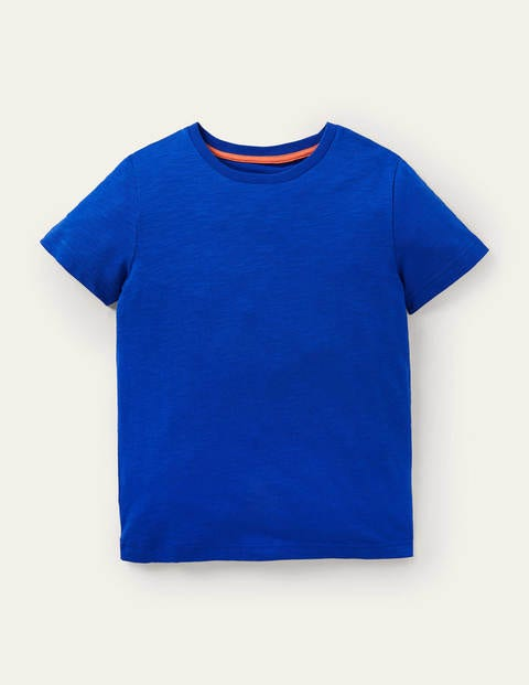 Slub Washed T-shirt - Brilliant Blue