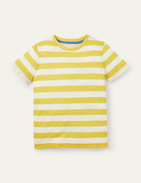 Slub Washed T-shirt - Bright Yellow/Ivory