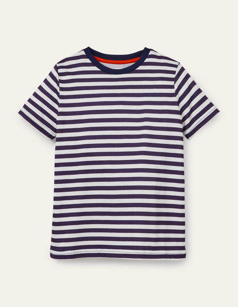 Slub Washed T-shirt - College Navy/Ivory