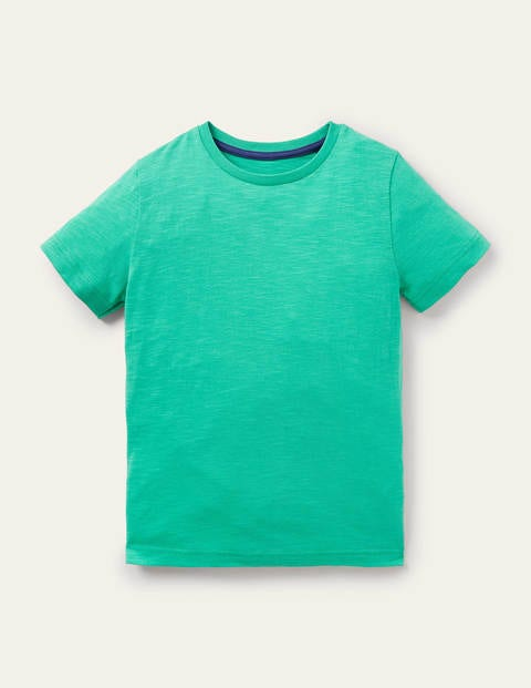 Slub Washed T-shirt - Tropical Green