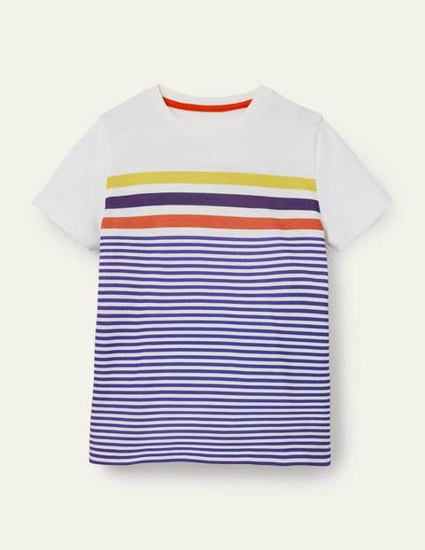 Slub Washed T-shirt - Brilliant Blue/Ivory