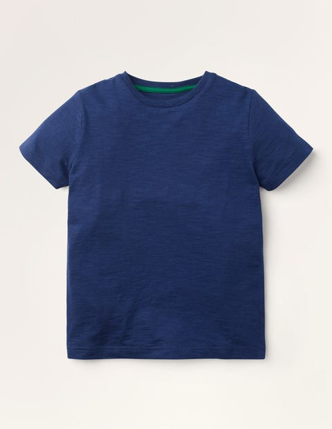 Slub Washed T-shirt - Navy Blue