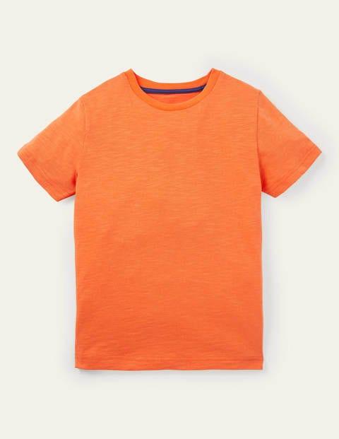 Slub Washed T-shirt - Satsuma Orange