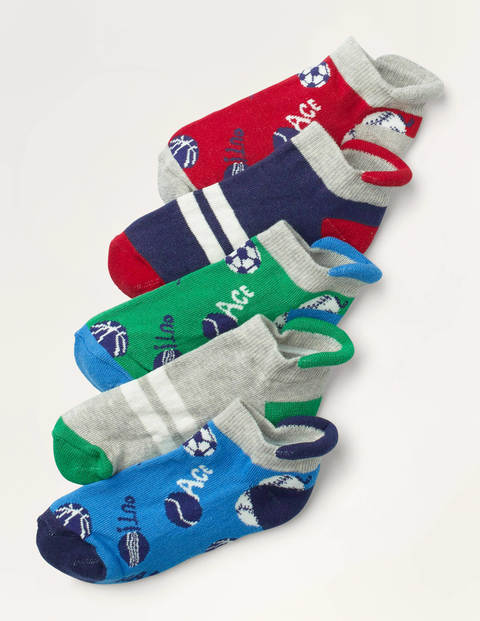 Trainer Socks 5 Pack - Multi Sports